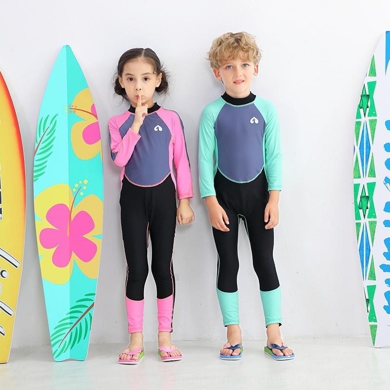 zDwQH JW8mr New Mergulho de natação calças maiô rapazes e de mangas' uma peça meninas mergulho terno à prova de sol das crianças calças de grande e médio