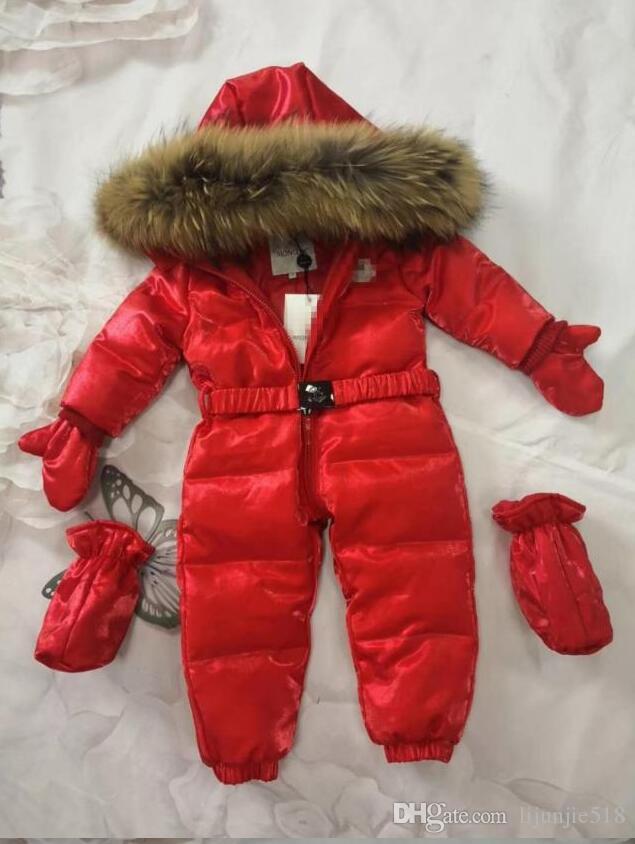 invierno por la chaqueta chicas nuevos niños pato impresa por la chaqueta mono de la manera capa gruesa marca chico caliente gruesa abajo chaqueta J12
