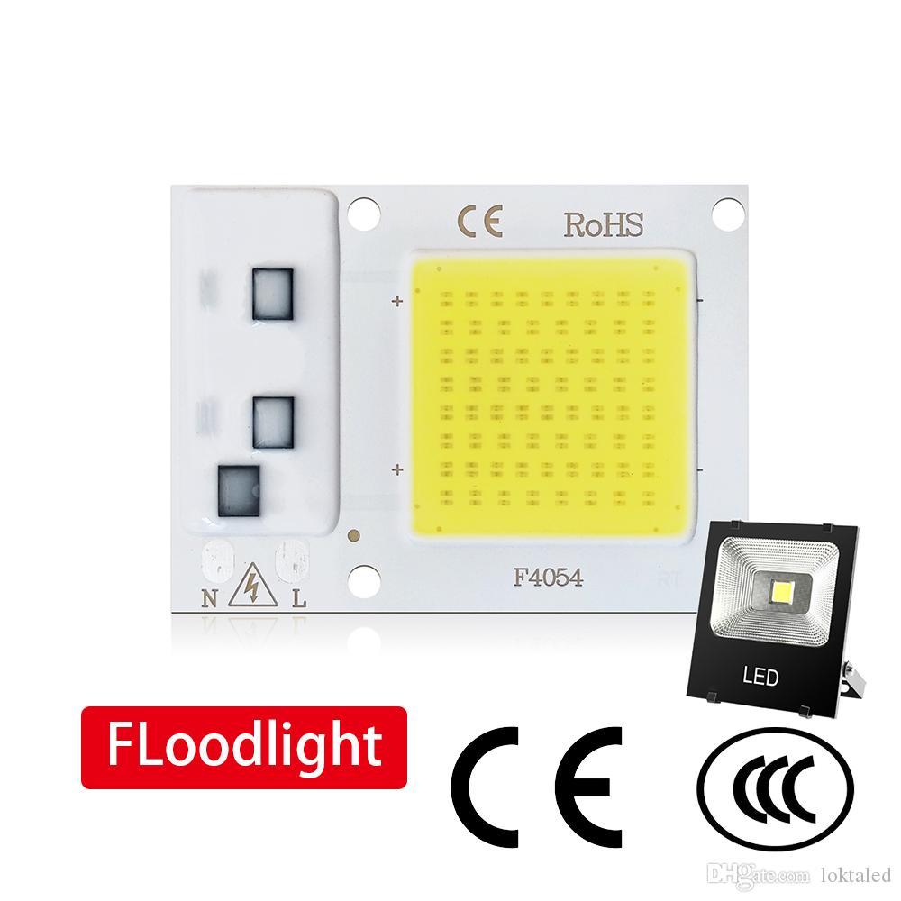 حبات COB LED رقاقة 50W 220V / 110V 30W 20W 10W الذكية IC لا تحتاج سائق الخفيفة لDIY الكاشف أضواء إنارة