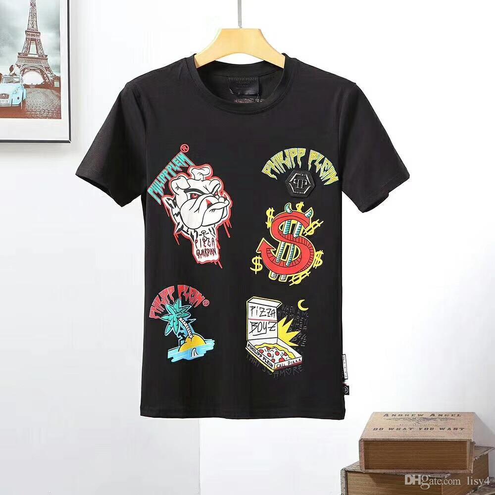 19 MODELI Erkekler Moda 3D T-shirt yenilik rahat streetwear erkekler ve kadınlar Kısa Kollu Yaratıcı terörist kafatası perçin baskı Tees M ...
