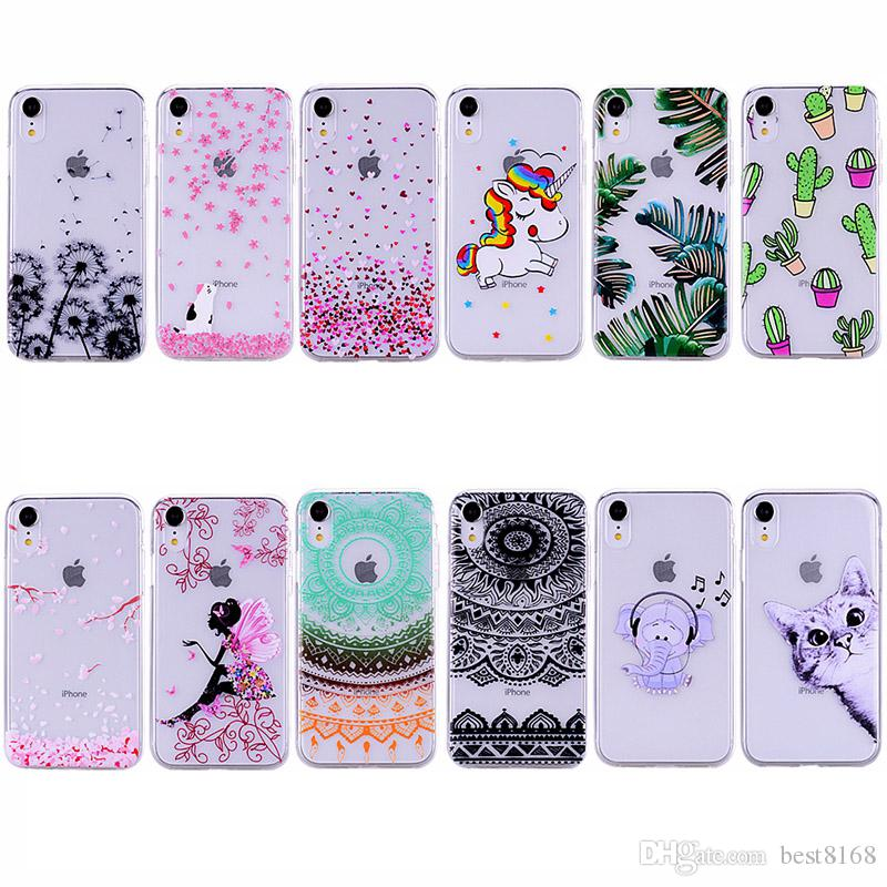Henna Paisley Mandala Soft TPU Case For Iphone 11 XS MAX XR 8 7 Blossom Floral Lace Flower Unicorn Dog Cartoon Cute Sexy Girl Fairy Cover