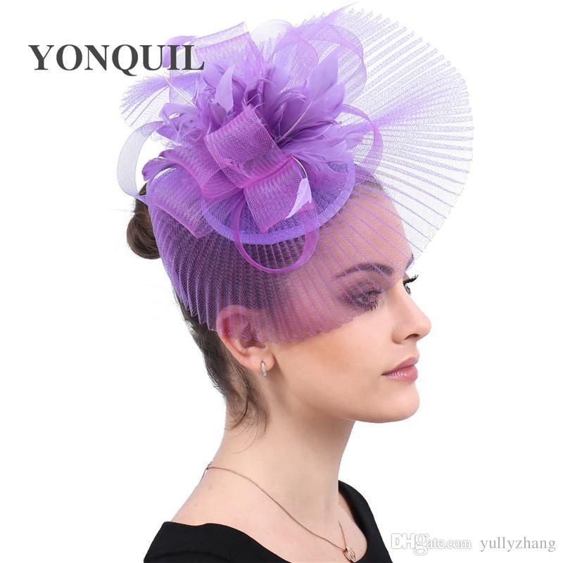 Kadınlar Zarif Kadın Gelin Örgü Fascinator Saç Klip Moda Saç Aksesuarları Düğün Kokteyl Şapkalar Gelin Parti Başlığı ücretsiz gemi