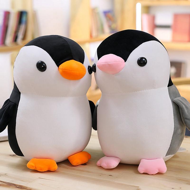 Yumuşak Penguen Peluş Oyuncaklar Köpük Parçacık Bebekler Kawaii Penguen Doldurulmuş Hayvanlar Peluş Yastık Kız Çocuk Bebek Hediyeleri Ev Yatak dekor