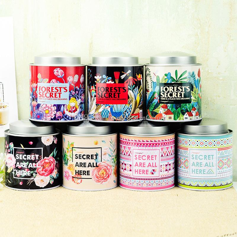 Retro Chinese Tea Caddies Iron Tin Box for Candy Biscuit Cookie Chocolate Storage Box Coffee Can Vintage Storage Organizer