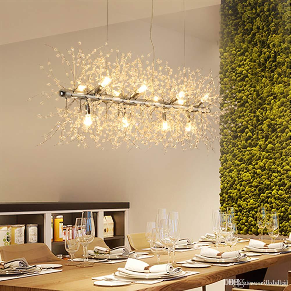 LED Kristal Avizeler Havai Fişek Asılı Tavan Işık Fikstürü Modern Kolye Aydınlatma Mağaza Fuaye Yemek Odası Banyo Yatak Odası Livingro