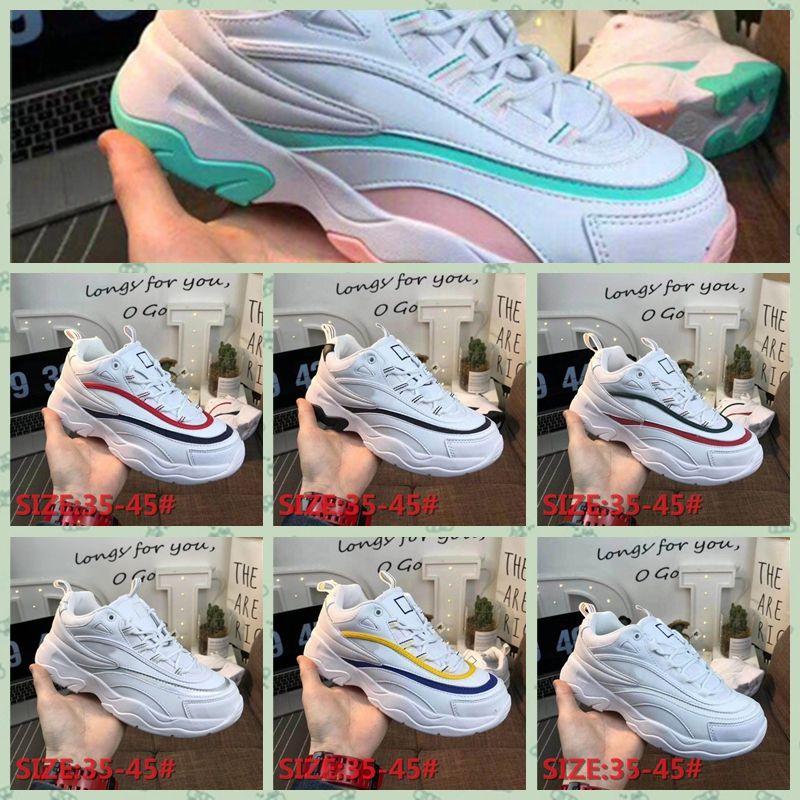 FILA RAY HOT 2019 Athentic Disruptors II 2 Clunky Sawtooth Designer Sports Running Shoes para Homens Designer de Marca das mulheres famosa Marca Sneake