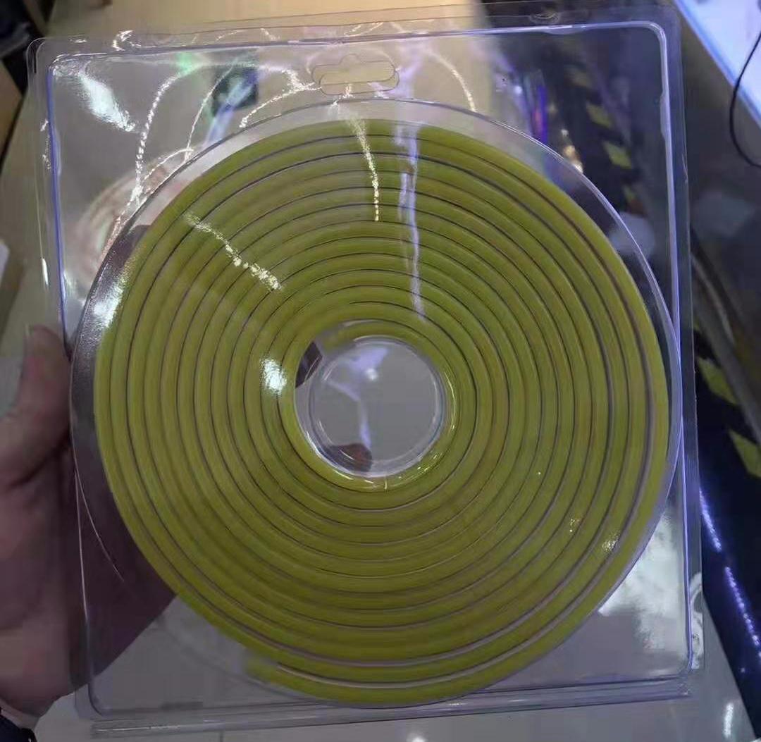 100 м / лот 6 * 12 мм 8 * 16 мм светодиодное освещение Flex LED Neon Light SMD 2835 120leds/M LED Strip rope Light водонепроницаемый IP68 DC12V