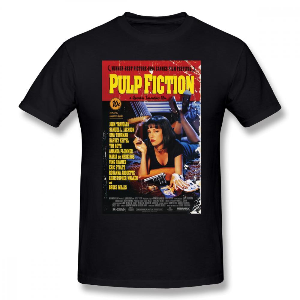 Camiseta Pulp Fiction Camiseta Pulp Fiction Camiseta de manga corta, 100% algodón Camiseta de hombre gráfico gracioso de Streetwear
