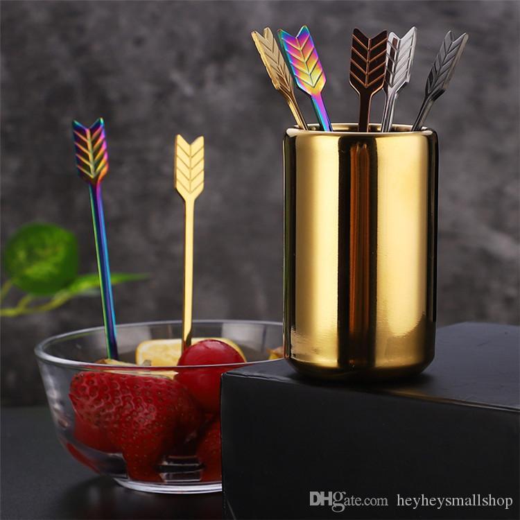 Criativas fruta Forks Permitir projeto Forks Ouro Aço Inox 304 Forks Atacado Talheres Louça Kitchen Dinning