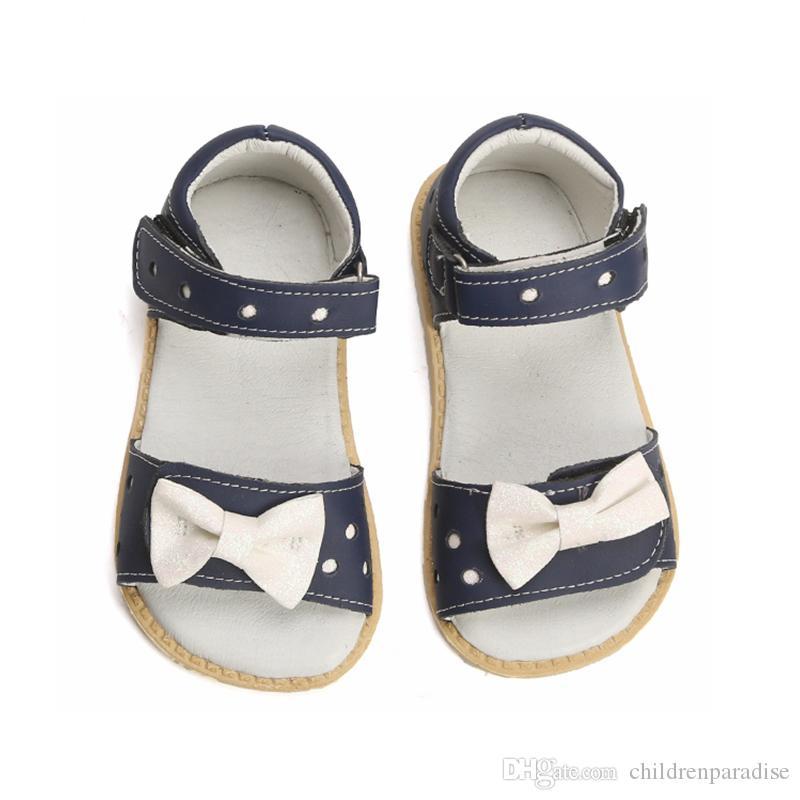 Girls Kids Children Flower Princess Shoes Sandals Genuine Leather Flat Shoes