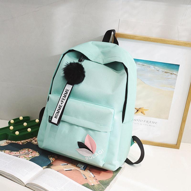 genç Koleji rüzgar Kadınlar Schoolbag Yüksek öğrenci çantası siyah naylon baskı için Katı sırt çantası kız okul çantaları