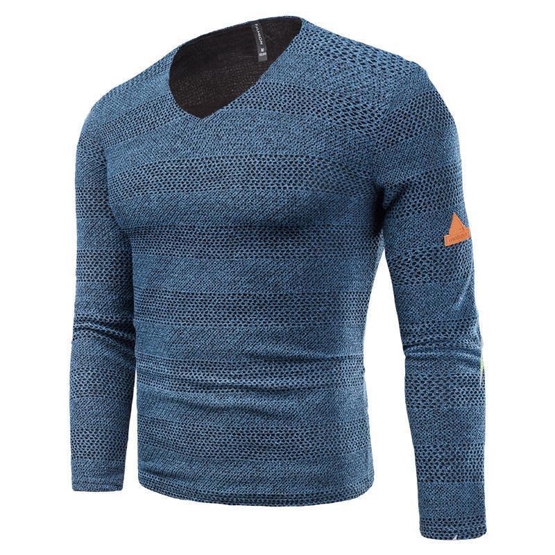 Tasarımcı Tişörtleri Moda Artı Boyutu Şerit Panelli Hollow Out Mens Tees Casual Erkek Giyim Düz Renk Mens