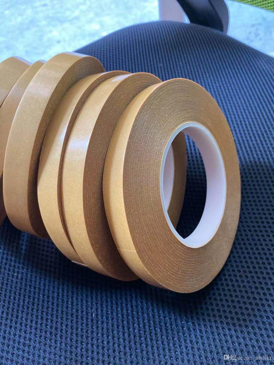 Strong Ultra Thin Transparent PET High Temperature Double Side Adhesive Tape New