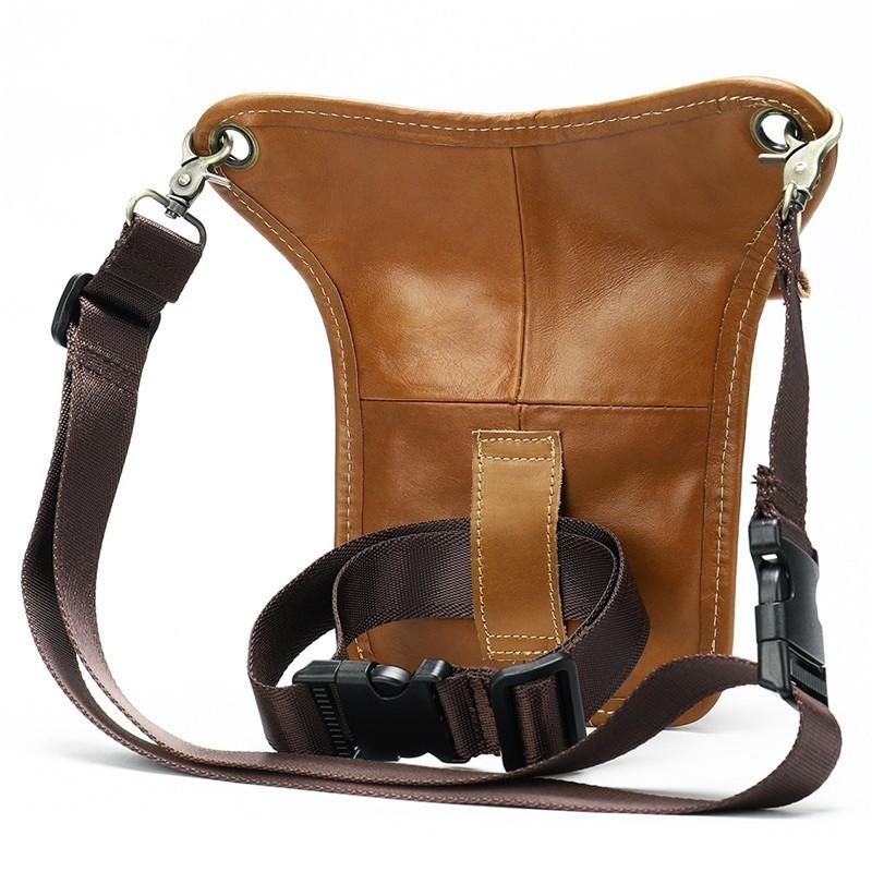 Genuine Leather Leg Bag In Waist Pack Motorcycle Fanny Pack Belt Bags Phone Pouch Travel Male Small Leg Bag Tacticalv 2019 New