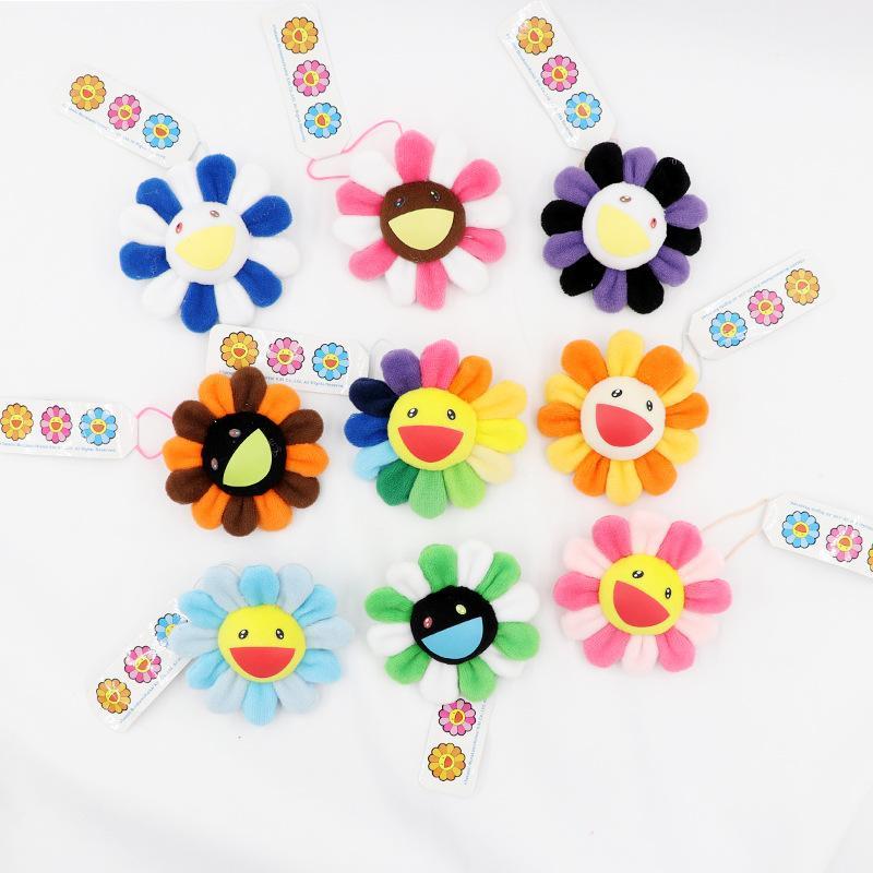 Bonito Colorido Flores Broches Diy Misturado Fita Cor De Algodão Flores Broche Pinos De Lã Handmade Crianças Meninas Meninos Broche