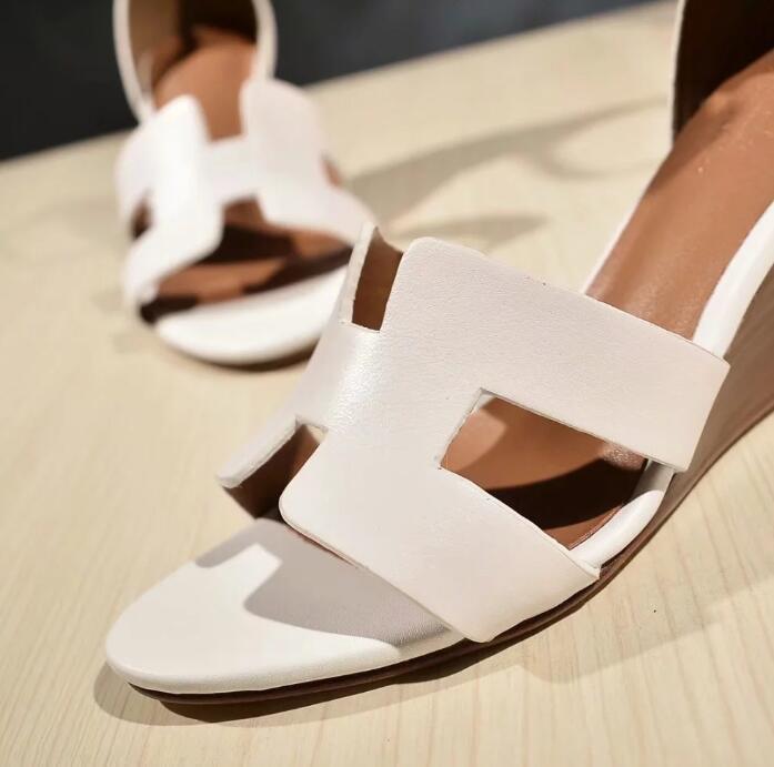 Sıcak satış-sandalet bayanlar Seksi yüksek topuk takozu ayakkabı moda rahat yuvarlak burunlu topuklu ayakkabılar Kadın Elbise sandalet