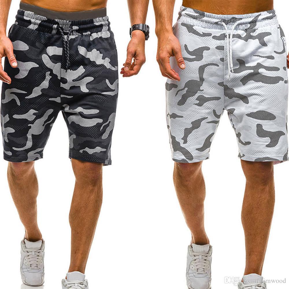 2019 Yeni Erkekler Kamuflaj Şort Rahat Erkek Sıcak Satış Askeri Kargo Şort Diz Boyu Erkek Yaz Kısa Pantolon Pantalon Homme #