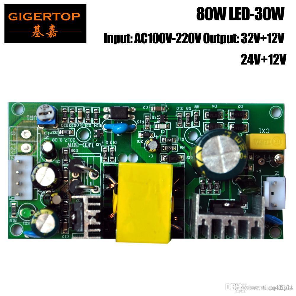 Uscita TIPTOP LED-30W 80W ha condotto l'illuminazione della fase di alimentazione Supply Board 12V 32V Per 10W Led Moving Head Spot Light / 30W LED Spot Light