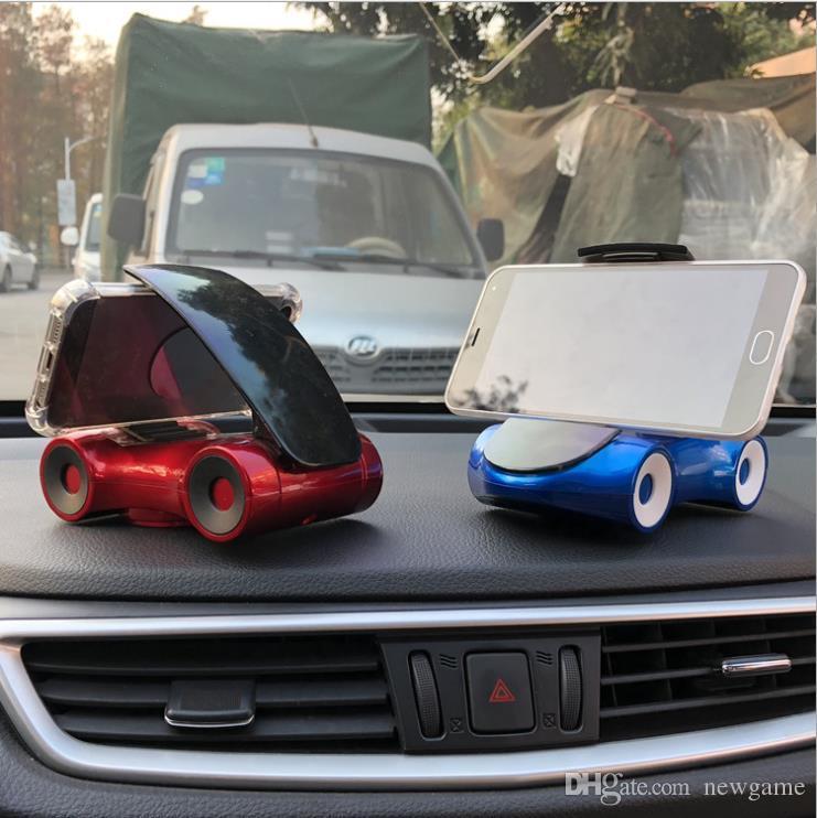 Envío gratuito de alta calidad vehículo montado en el salpicadero del coche giratorio coche creativo regalos teléfono móvil soporte