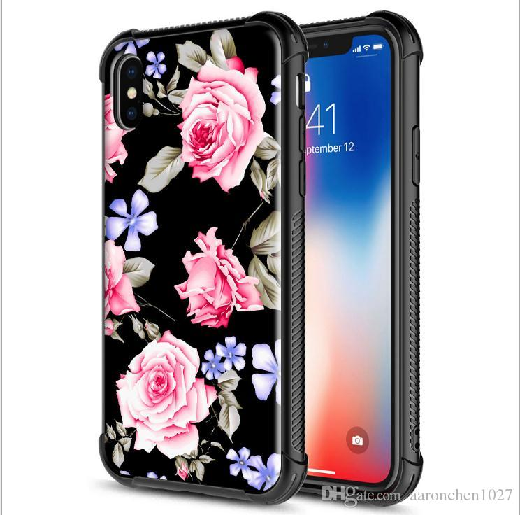 Luxury Case For iPhone 6 6S 7 8 Plus X XR XS Max Tempered Glass +TPU Cover for Samsung Galaxy S8 S9 plus Note 8 9 J6 J8 A6 A8 Plus 2018
