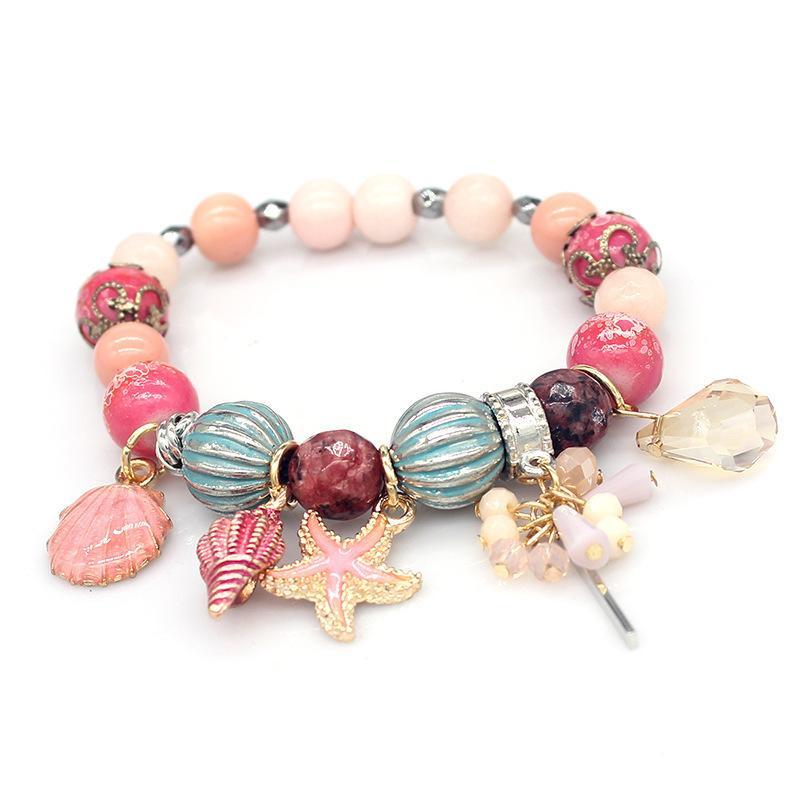 Оптово роскоши дизайнер ювелирных изделий женщин браслеты натуральный камень бисер очарование моря сериалах браслет замороженный из браслета NE983-1