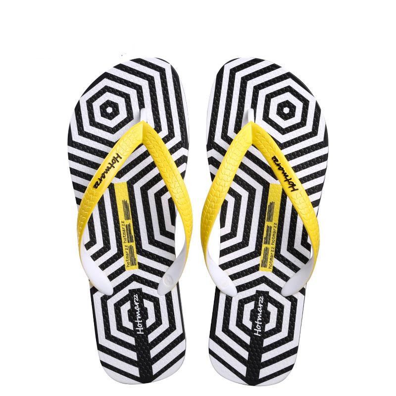 2020 Summer Beach Flip-Flops New Fashion Style Flip Flops Wear Clip-on Non-slip Slippers men's beach slippers With Zebra stripes
