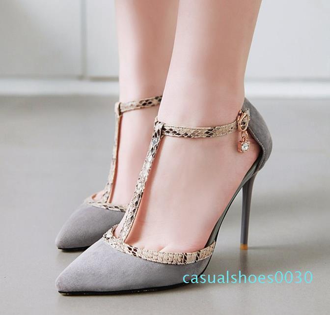 big size 32 to 43 44 45 46 fashion women T strap high heel designer pumps office lady fashion luxury designer women shoes c30