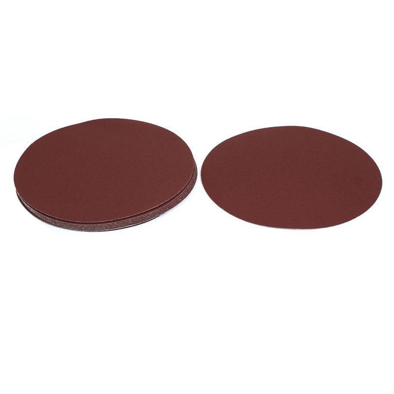 Promoção! 9-Inch Dia 120 Grits auto-Stick lixar Disc Reunindo lixa de polimento ferramenta 10pcs