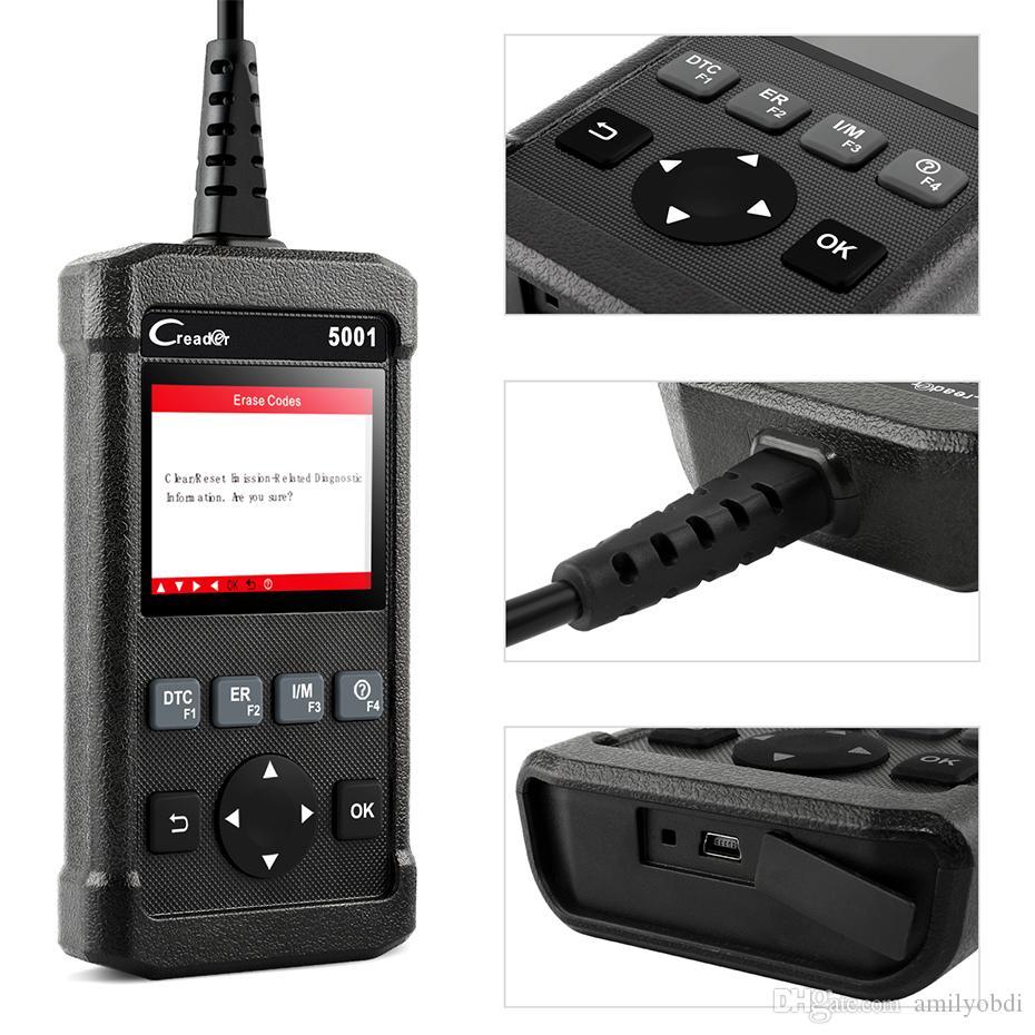 발사 X431 CR5001 OBD2 스캐너 OBD2 엔진 코드 리더 ODB2 자동차 진단 도구 무료 업데이트 자동차 스캐너 OBDII PK KW850 Autel의 al519