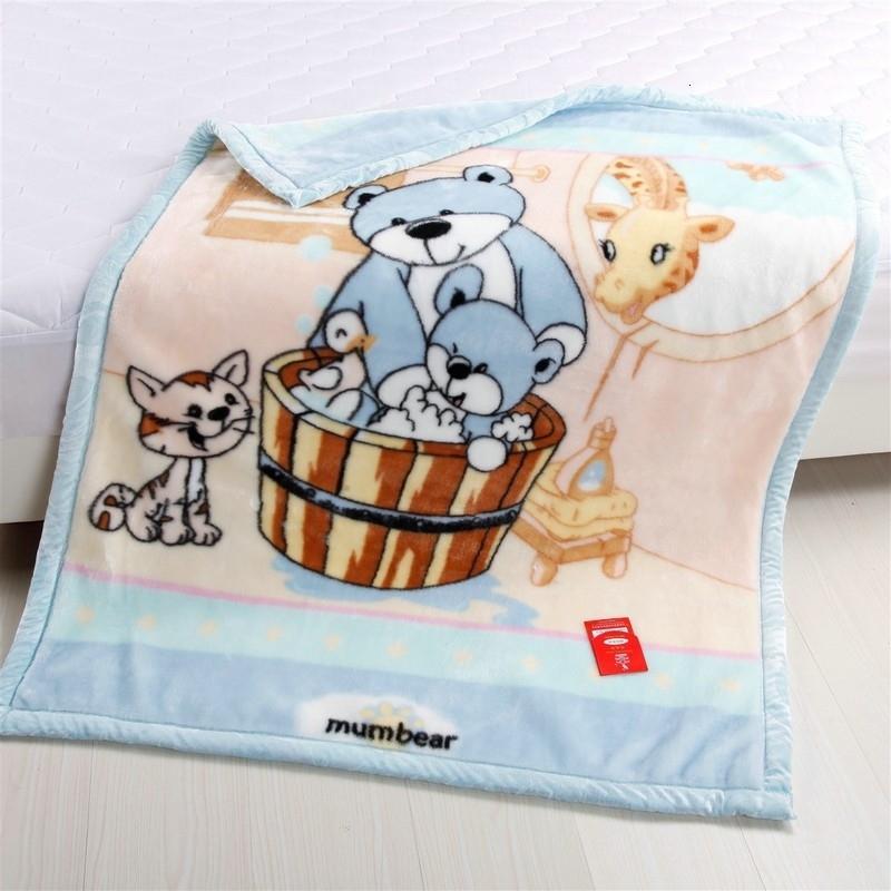 O envio gratuito de raschel espessamento dupla camada cobertor criança Coral fleece flanela cama SH190917 103cmx 130 centímetros bebê cobertor infantil