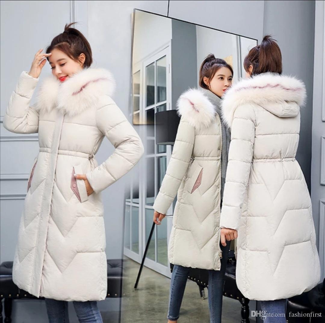 Зимняя куртка женщин ватные дамы плюс размер 3xL женские двоичные куртки Большое меховое зимнее пальто Женская куртка Новый с капюшоном Parka тепло