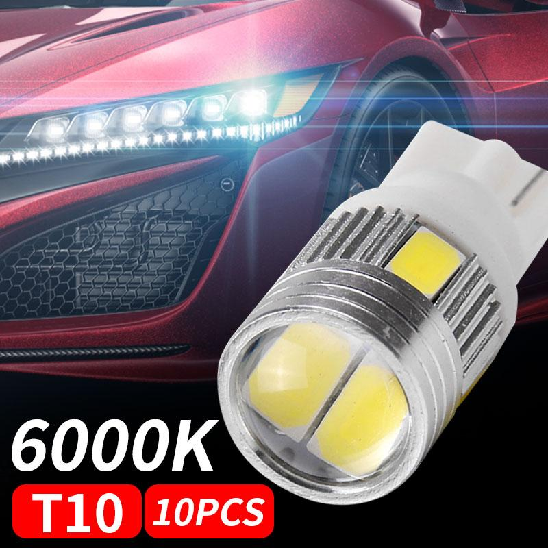 Interior 10pcs T10 W5W Estacionamento cauda do carro Painel Luz Durable Car Rear Side Bright Light Auto Wedge