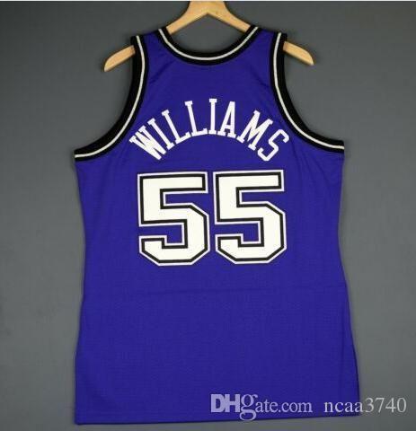 Özel Erkekler Gençlik kadınlar Vintage Jason Williams Mitchell Ness 98 99 Koleji basketbol Jersey Boyut veya özel herhangi bir ad veya numara formayı-4XL S
