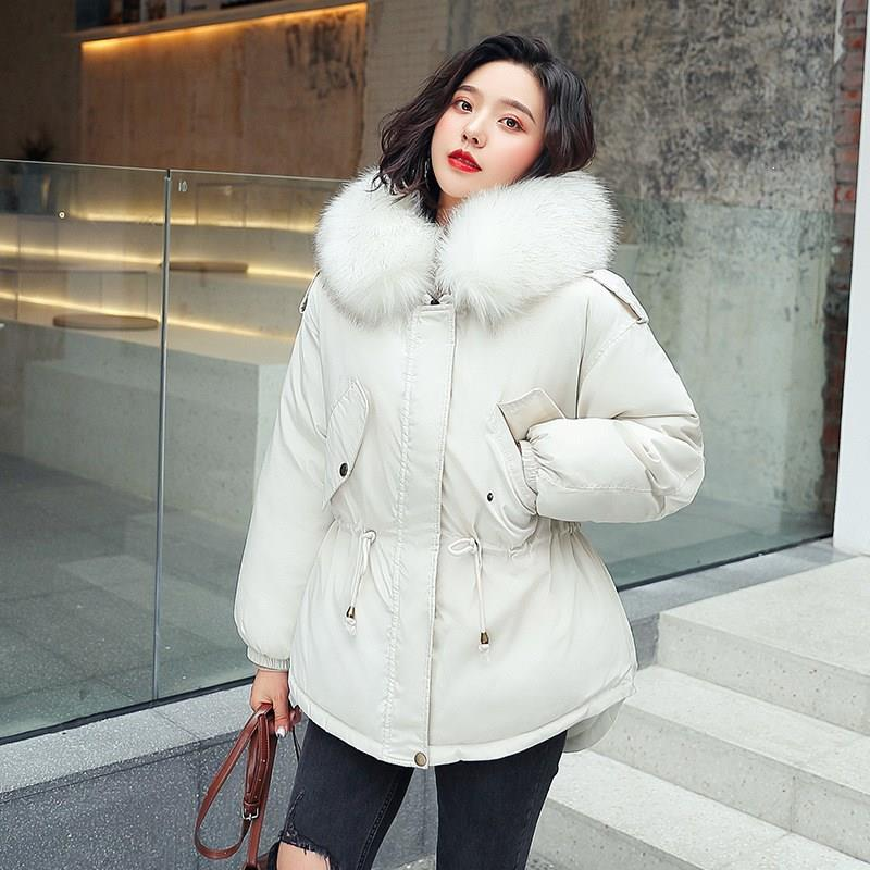 Winter Jacket Women Large Fur Collar Down Wadded Jacket Cotton-Padded Jackets Thickening Women Winter Coat