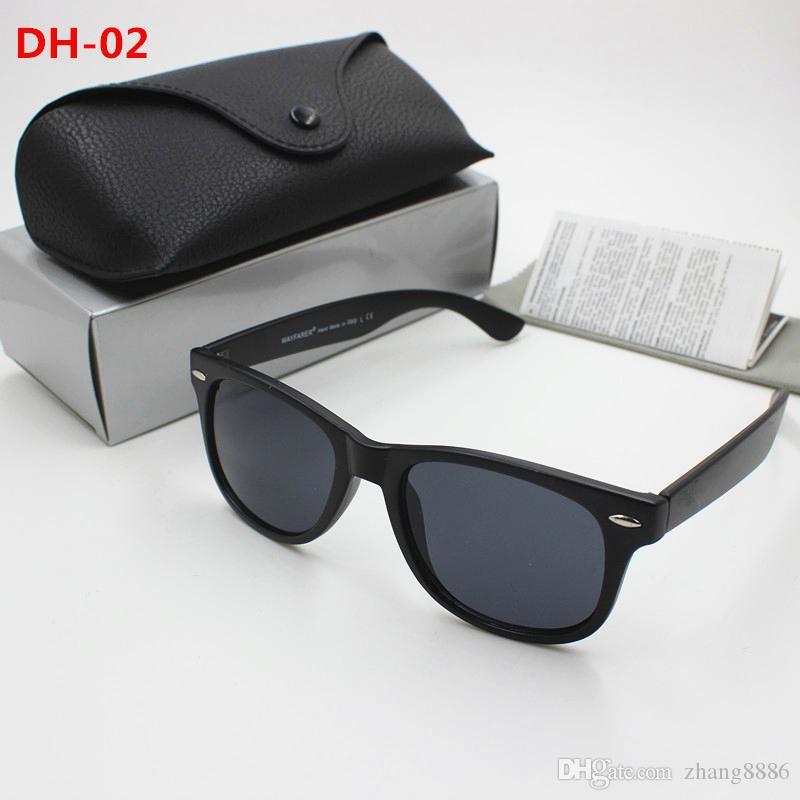 New high quality retro sunglasses for men and women traveler sunglasses black frame black 51mm lens uv400 protection black case