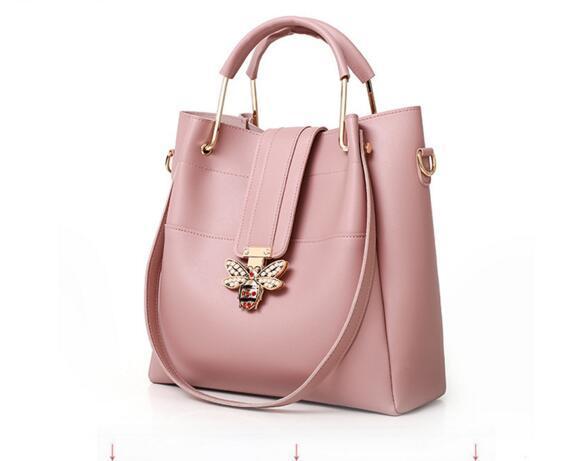 Designer- 2019 Women handbag Little bee Zipper designer luxury handbags purses Casual Shoulder Bucket bag Two-piece suit cross body bag 220
