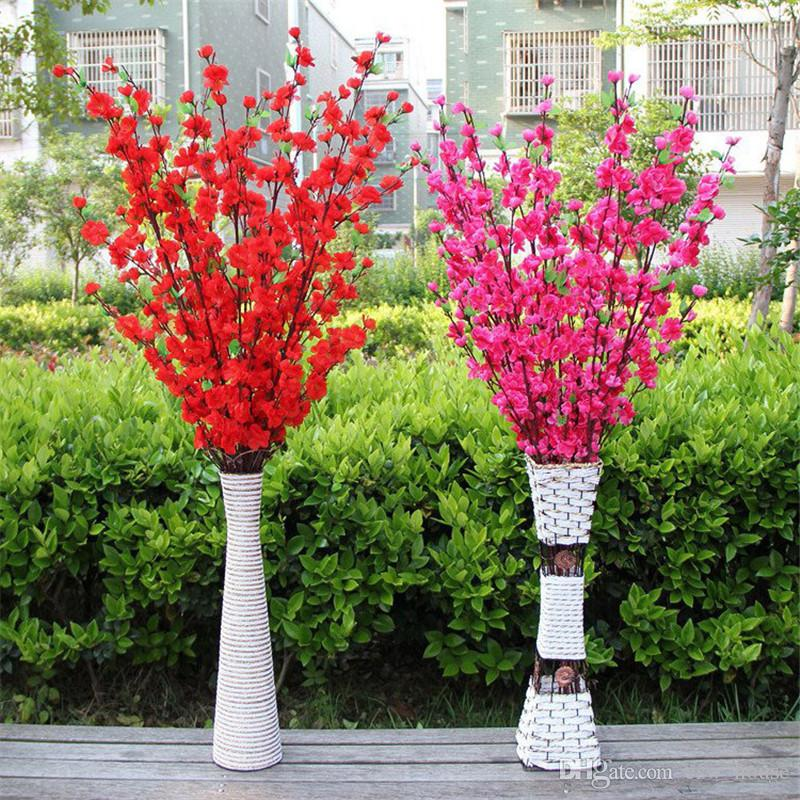 2020 Artificial Cherry Blossom Trees Peach Blossom Branch Silk
