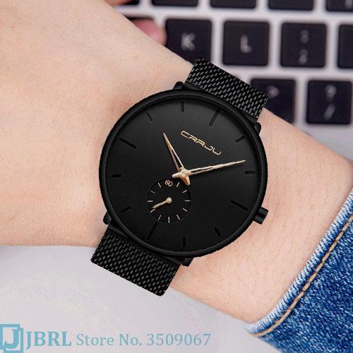 CUJJRU di marca nero orologio da polso Donne Ladies Fashion Style Orologio da polso in acciaio inossidabile femminile orologio al quarzo Orologio Donne Per