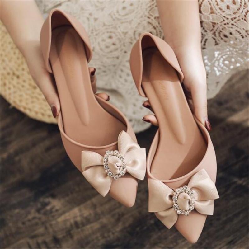 Yumuşak alt gündelik çiçek sandalet yaz Yeni sivri yüksek topuklu moda kadın ayakkabıları elmas toka kama jöle Y200405 ayakkabı