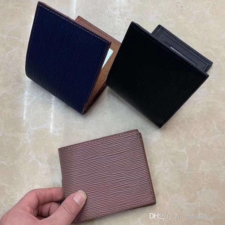 Горячая кожаная мужская классическая карточка кошелек бизнеса высокого качества карты высококлассный корпус коробка короткий дизайнер держатель кошелька качества MT мода подарок Pur BTCL