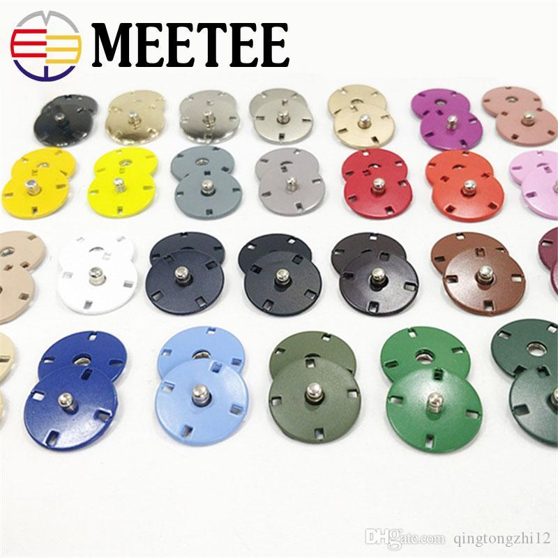 Meetee Metal Snap Button 18 мм ручной работы тонкий плоский невидимый сплав кнопка пылезащитное пальто Пальто пряжка аксессуары для одежды CR191