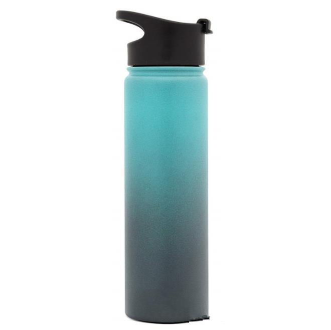 Wide Mouth Vacuum Insulated 18//8 Stainless Steel Powder Coated Simple Modern Summit Water Bottle with Chug Lid