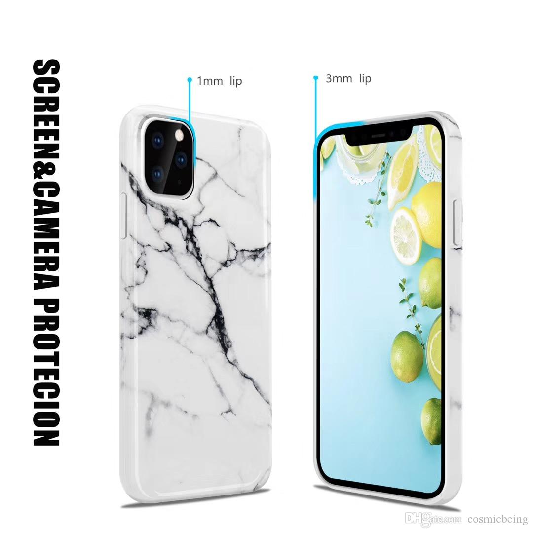Free Gift 3PCS Disposable 3 layers Masks With Holder Stand Marble Case For iPhone 11 Pro Max Back Cover For iphone 11 Lite Skin IMD