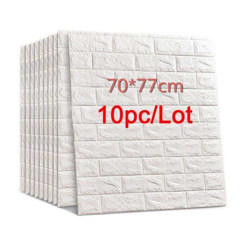 70 * 77 3D Tuğla Duvar Etiketler DIY Öz adhensive Dekor Köpük Su geçirmez Duvar Kaplama Duvar Kağıdı TV Arkaplan Çocuklar Oturma Odası için