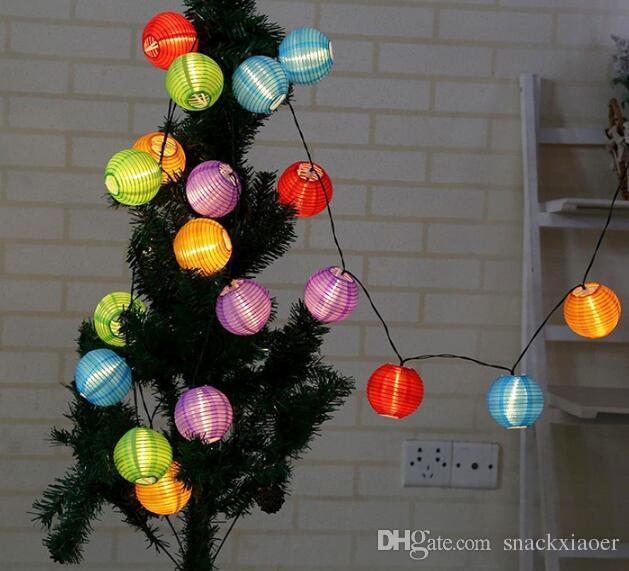 20 LED 30LED Impermeabile solare alimentato Lampada Lanterna Festive Garden Ball String Luce di fata Multi colore illuminazione esterna di Natale