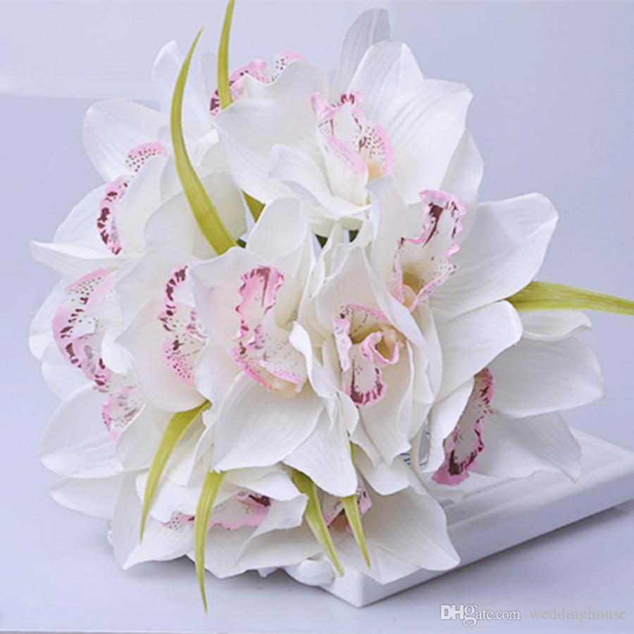 Bouquet Orchidee Sposa.Acquista 2019 Simulazione Hui Orchidea Bouquet Matrimonio Fiore