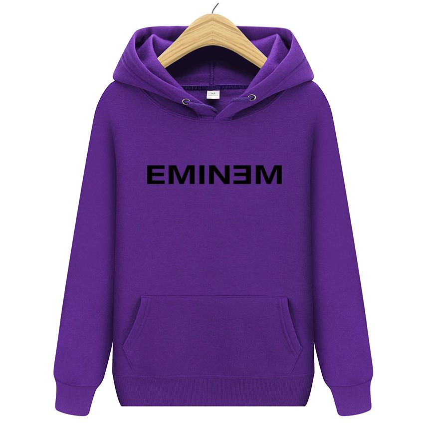 2018 New Winter Men's Hoodies Eminem Printed Thicken Pullover Sweatshirt Men Sportswear Fashion Clothing 13 colors Free shipping