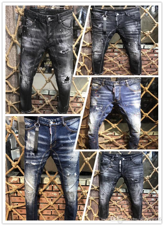 En 2019, los pantalones vaqueros de la nueva marca de moda de verano y otoño europeo y americano de los hombres de los pantalones vaqueros de los hombres casuales A213