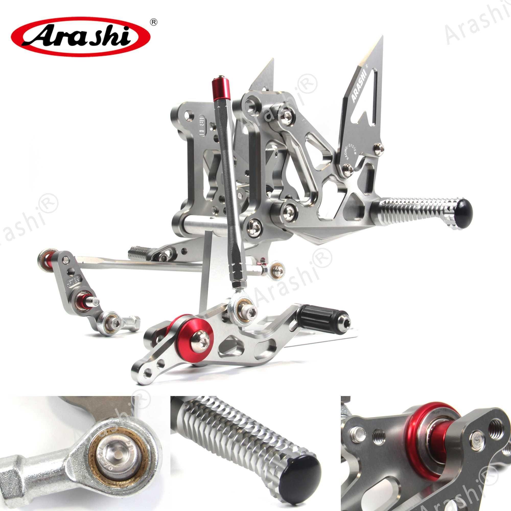 Arashi New Для MV Agusta Brutale 675 800 Dragster / F3 675 2012 2013 2014 2015 Регулируемой Подножка Подножка Rider Rearset