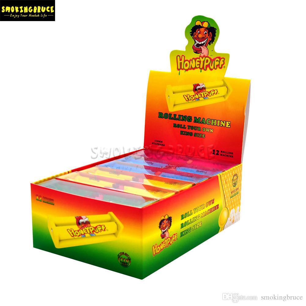 아크릴 플라스틱 흡연 담배 롤링 기계 적합 한 110mm 킹 사이즈 종이 수동 Tobaccos 버튼 쉬운 손 연기 롤러 담배 파이프
